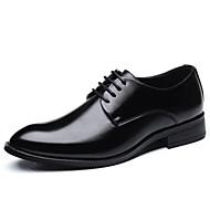 Pánské Komfortní boty Plátno Jaro / Léto Business Oxfordské Černá / Hnědá / Party