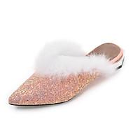 Dames Schoenen Pailletten Synthetisch Lente Herfst Comfortabel Klompen & Muiltjes Gepuntte Teen Pailletten Voor Causaal Goud Zwart Zilver