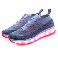 abordables LED Chaussures-Femme Chaussures Tulle Printemps / Automne Chaussures Lumineuses Basket Bout rond Vert / Noir / bleu. / Bleu royal