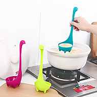 1Pc Creative The Loch Ness Monster Dinosaur Nessie Large Soup Spoon Ladle Scoop Long Handle Can Stand Can Hang Cartoon