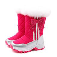 Pige Sko Ægte Læder Vinter Komfort Snestøvler Støvler Til Afslappet Sort Rosa