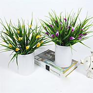 1 Gren Plastikk Calla-lilje Bordblomst Kunstige blomster