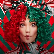 Sia's Wig Women Synthetic Wig Short Kinky Curly Half Red and Green Party Wig Celebrity Wig Fashion Christmas Gift Santa's Coming For Us