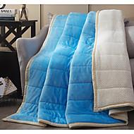 Superweich Einheitliche Farbe Polyester Decken