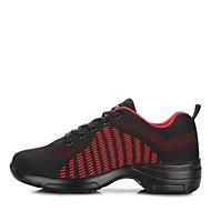 baratos Sapatilhas de Dança-Mulheres Tênis de Dança Tricô Têni Salto Baixo Sapatos de Dança Branco / Preto / Preto / Vermelho
