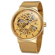 FORSINING Homens Relógio Casual Relógio de Moda Relógio Elegante Relógio de Pulso Automático - da corda automáticamente Gravação Oca Lega