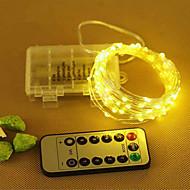 お買い得  LEDライトストリップ-10m ストリングライト 100 LED SMD 0603 温白色 / クールホワイト / RGB リモートコントロール <5 V 1個 / IP65