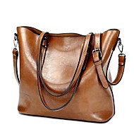 cheap Shoulder Bags-Women's Bags PU Shoulder Bag Zipper for Casual All Seasons Black Coffee Brown Wine