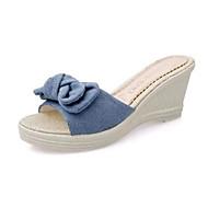 お買い得  -レディース 靴 ヌバックレザー 春 夏 コンフォートシューズ サンダル 用途 カジュアル ブラック ブルー