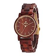 Dámské Náramkové hodinky japonština Křemenný Dřevo Červená dřevěný Analogové dámy Elegantní Minimalistické Dřevo Hodinky k šatům - Dřevo Jeden rok Životnost baterie / Sony SR626SW