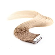 Tape In Hiukset Extensions 20kpl / pakkaus 1.5g / kpl Platinum Blonde Mansikka Blonde /Vaalea vaalea Beige Blonde // Bleach Blonde Ash