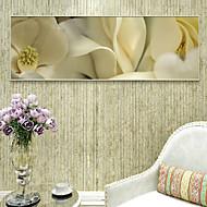 voordelige Prints-Landschap Bloemenmotief/Botanisch Illustratie Muurkunst,PVC Materiaal Met frame For Huisdecoratie Ingelijste kunst Woonkamer Slaapkamer