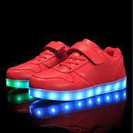tanie Obuwie chłopięce-Dla chłopców Obuwie Materiał do wyboru / Derma Jesień / Zima Wygoda / Świecące buty Adidasy Sznurowane / Tasiemka / LED na Czerwony / Niebieski / Różowy