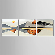 baratos -Pintura a Óleo Pintados à mão - Paisagem Modern Tela de pintura