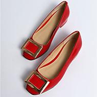 Dámské Boty Kůže Jaro Podzim Pohodlné Bez podpatku Pro Ležérní Černá Tmavomodrá Světle fialová Červená Burgundská fialová