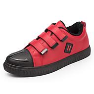baratos Sapatos Masculinos-Homens Couro Ecológico Outono / Inverno Conforto / Forro de fluff Tênis Atletismo Preto / Vermelho