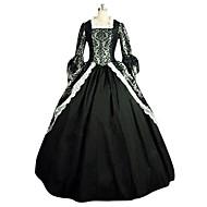 Rococo Victorian 18ος αιώνας Στολές Γυναικεία Φορέματα Κοστούμι πάρτι Χορός μεταμφιεσμένων Μαύρο Πεπαλαιωμένο Cosplay Δαντέλα ΛΕΥΚΑ ΕΙΔΗ Σατέν Πάρτι Χοροεσπερίδα Μακρυμάνικο Μακρύ Μήκος