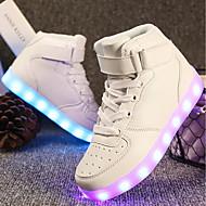 baratos Sapatos de Menina-Para Meninas Sapatos Materiais Customizados / Courino Primavera Verão Conforto / Tênis com LED Tênis Caminhada Cadarço / Colchete / LED
