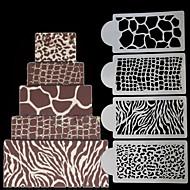 billige Bakeredskap-Bakeware verktøy Plastikker baking Tool Dagligdags Brug Rektangulær Cake Moulds 1set