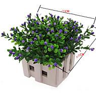 6 Gren Plastikk Andre Planter Andre Bordblomst Kunstige blomster