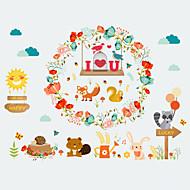 tanie סרטים ומדבקות לחלון-Zwierzę Święta Bożego Narodzenia Naklejka okienna, PVC Materiał Dekoracja okna Salon