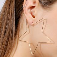 Mulheres Brincos Compridos Brincos Estrela senhoras Simples Europeu Fashion Jóias Dourado / Prata Para Bagels