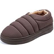 お買い得  メンズスリッパ&ビーチサンダル-男性用 靴 カシミヤ 冬 スノーブーツ スリッパ&フリップ・フロップ のために カジュアル グレー Brown