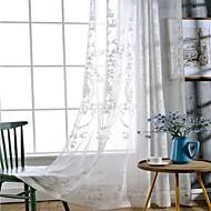 Pakkingring Bovenkant Dubbel Geplooid Potlood Geplooid Window Behandeling Landelijk , Effen Woonkamer Linnen Materiaal Vitrages Shades