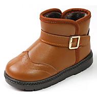 男の子 靴 合成マイクロファイバーPU 秋 冬 コンフォートシューズ スノーブーツ ブーツ 用途 カジュアル ブラック Brown レッド
