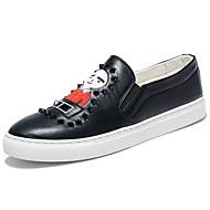 Muškarci Cipele PU Proljeće Jesen Udobne cipele Natikače i mokasinke Perlica za Kauzalni Obala Crn Crvena