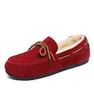 ieftine Pantofi Barcă de Damă-Damă Pantofi Piele de Căprioară Iarnă Mocasini Încălțăminte de Barcă Vârf rotund Funde Pentru Casual Negru Gri Maro Rosu Verde