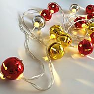 billiga Belysning-1pc 20 ledar ledstrålkastare bollform guld& silverfärg (ingen röd färg) 3 * aa batteridriven utan batteri