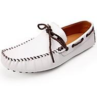 メンズ 靴 レザー 春 秋 モカシン ボート用シューズ のために カジュアル ホワイト ブラック イエロー
