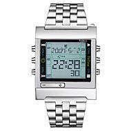 billige Quartz-Dame Quartz Digital Watch / Militærur / Sportsur Japansk Kalender / Kronograf / Vandafvisende / Stor urskive / Sej / LCD Rustfrit stål