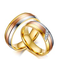 Homens / Mulheres Zircônia Cubica Anel de noivado / Conjuntos de anéis - Zircônia Cubica Princesa Clássico 6 / 7 / 8 Cores Sortidas Para Casamento / Festa / Noite / Festa de Noite
