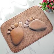 tapete de piso antiderrapante de padrão de pés criativo