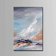 billiga Landskapsmålningar-Hang målad oljemålning HANDMÅLAD - Landskap Abstrakt Duk / Sträckt kanfas