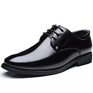 メンズ 靴 レザー 春 秋 コンフォートシューズ グラディエーターサンダル ライト付きソール オックスフォードシューズ 編み上げ 用途 カジュアル パーティー ブラック