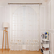 Rypytysnauha Purjerengas Kangaslenkki Tuplavekki Window Hoito Vapaa-aika Boheemi Moderni , Kirjailu Kukka Makuuhuone Polyesteri materiaali