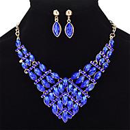 Žene Komplet nakita Kristal Umjetno drago kamenje Kristal Legura Geometric Shape Taper Shape Ležerne prilike Moda Vjenčanje Party 1