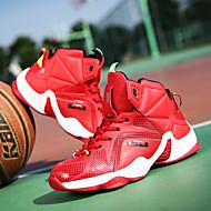 baratos -Masculino-Tênis-Conforto-Rasteiro-Vermelho Prateado Dourado Preto e Vermelho-Couro-Ar-Livre Casual Para Esporte