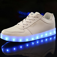 cheap Girls' Shoes-Girls' Shoes PU Spring Comfort / Novelty / Light Up Shoes Sneakers LED for White / Black