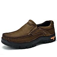 baratos Sapatos Masculinos-Homens Couro Sintético / Pele Primavera / Outono Conforto Mocassins e Slip-Ons Khaki / Verde Escuro