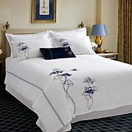 billige Hjemmetekstiler-Sengesett Luksus Polyester / Bomull Mønstret 4 deler