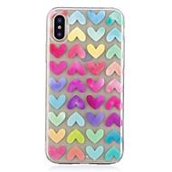 billiga Mobil cases & Skärmskydd-fodral Till Apple iPhone X iPhone 8 Mönster Skal Hjärta Mjukt TPU för iPhone X iPhone 8 Plus iPhone 8 iPhone 7 Plus iPhone 7 iPhone 6s