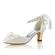 chaussures pour femme stretch, baskets printemps / été baskets baskets à talons épais talon rond cristal violet / champagne / ivoire