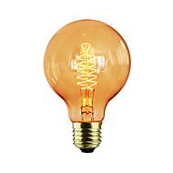 Χαμηλού Κόστους Τέλειοι λαμπτήρες φωτισμού-1pc 60W E27 E26/E27 G80 Θερμό Λευκό κ Λαμπτήρας πυρακτώσεως Vintage Edison AC 220-240V V