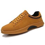 halpa -Miehet kengät PU Syksy Comfort Lenkkitossut varten Kausaliteetti Musta Harmaa Ruskea