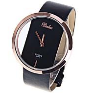 בגדי ריקוד נשים נשים שעון יד קווארץ עור שחור / לבן / אדום שעונים יום יומיים מגניב אנלוגי יום יומי אופנתי מינימליסטי - שחור חום אדום שנה אחת חיי סוללה