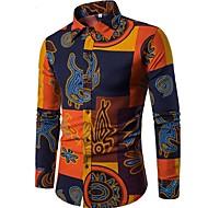 Majica Muškarci - Vintage Kinezerije Boho Vikend Klub Cvjetni print Kineski ovratnik Slim